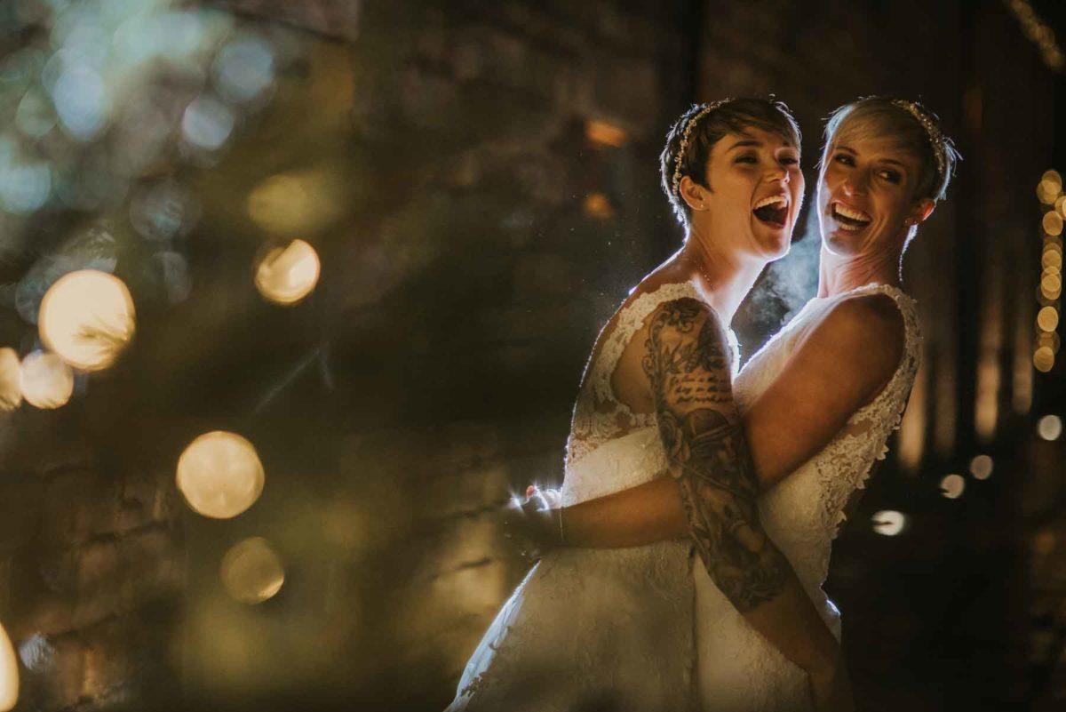 Lizzie and Linday - Same Sex Wedding - Tom Halliday - Happy brides